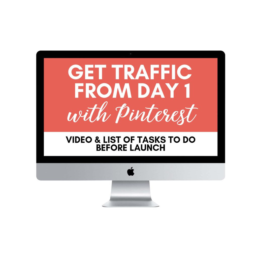 Get Traffic from day 1 with Pinterest for free - Bonus for how to start a blog online course for beginners