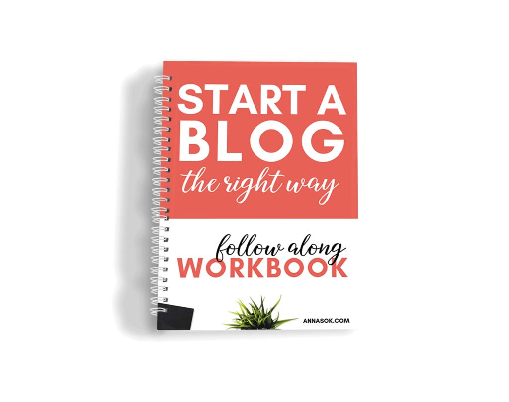 Workbook Step By Step - Bonus for how to start a blog online course for beginners