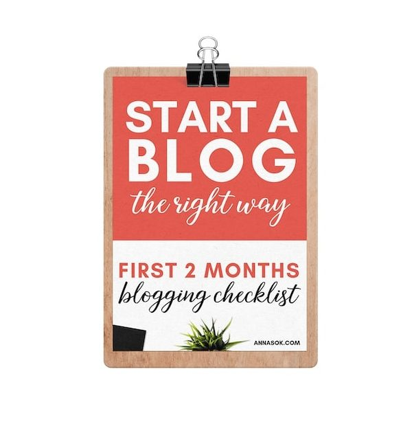 Blogging Checklist - Bonus for how to start a blog online course for beginners
