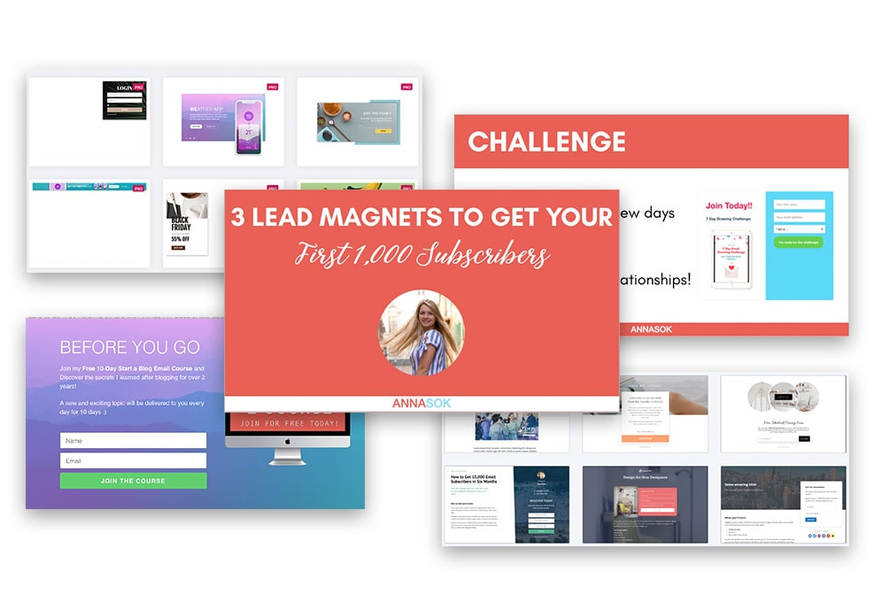 create freebies, lead magnets and email opt-ins to grow your email list on your blog